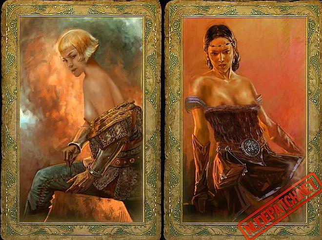 Trading cards of naked people