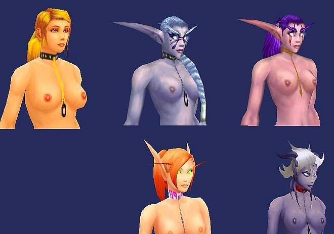 Angels around nude models