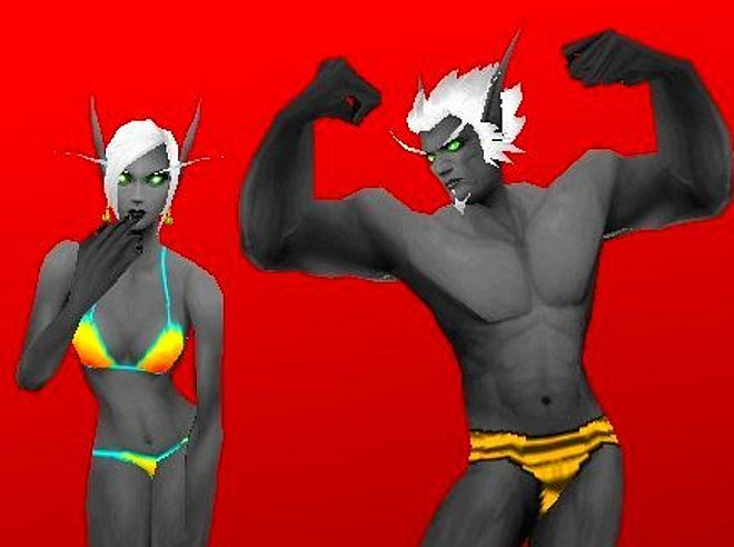 Drow elf female nude All above