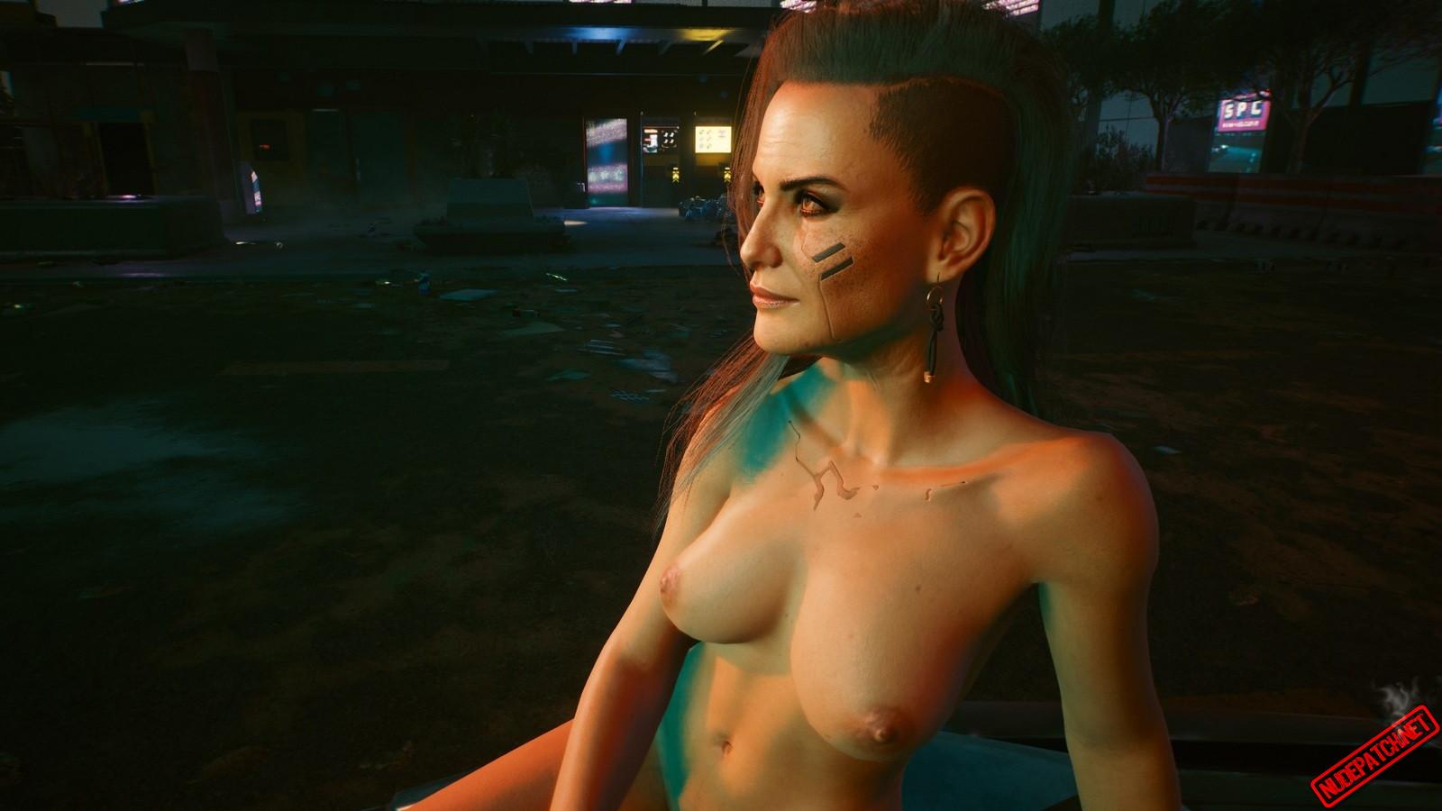 Cyberpunk 2077 Barefoot and Naked Rogue
