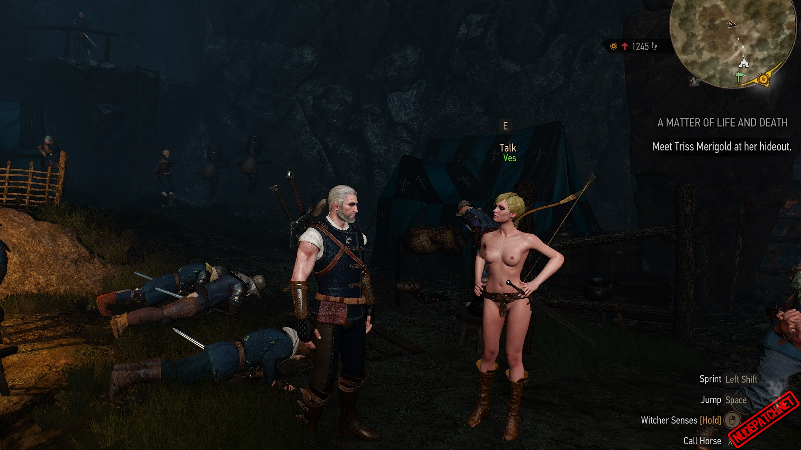 The Witcher 3 Naked Ves