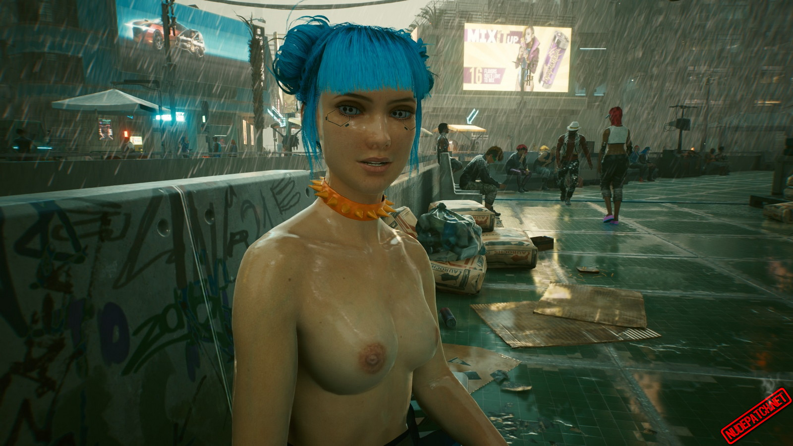 Cyberpunk 2077 Naked Blue Moon