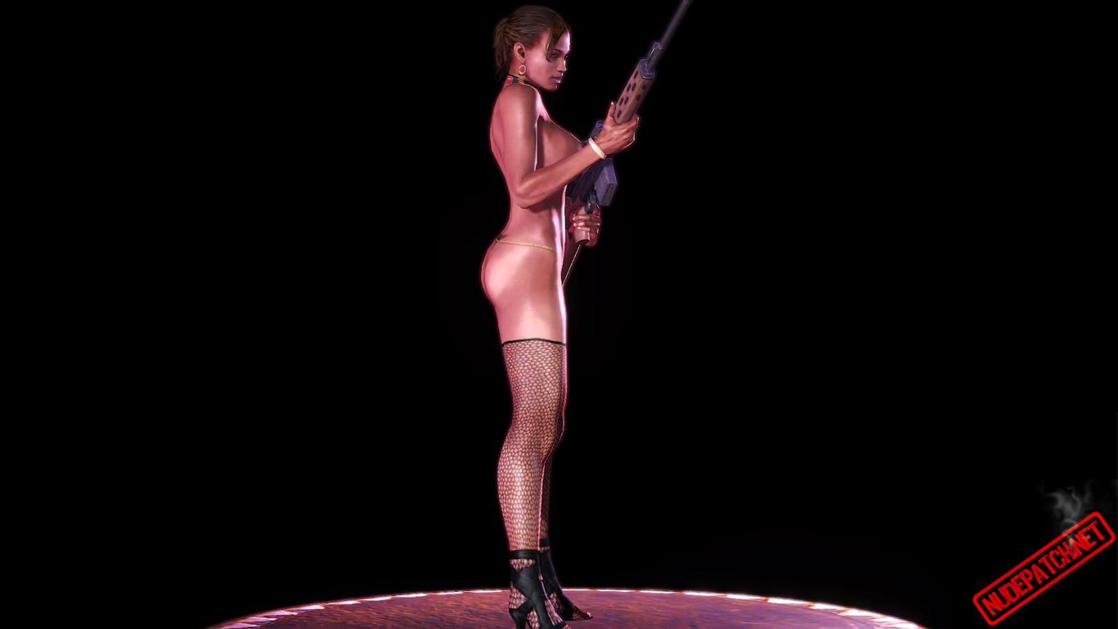 RE5GE naked Sheva