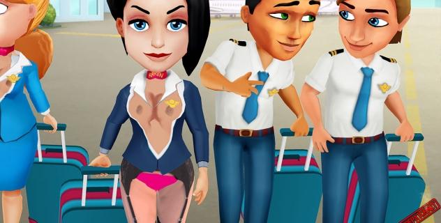 Amber's Airline – 7 Wonders Karen topless mod