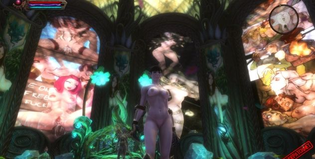 Kingdoms of Amalur: Vitrage nude mod
