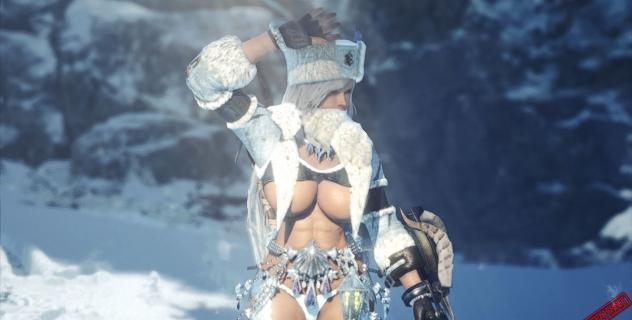 Monster Hunter: World Kirin Beta Armor Female Topless Mod