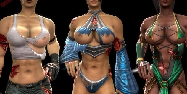 Mortal Kombat 9: Female Costume Destruction mod