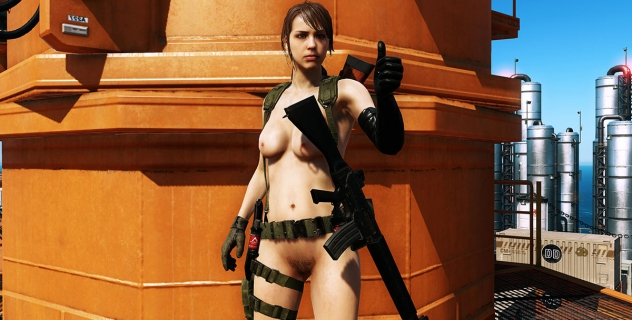 Metal Gear Solid V: The Phantom Pain 2015 – The Naked Sniper Quiet Nude Mod