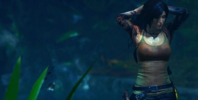 Shadow of the Tomb Raider  Lara Wet Shirt Mod