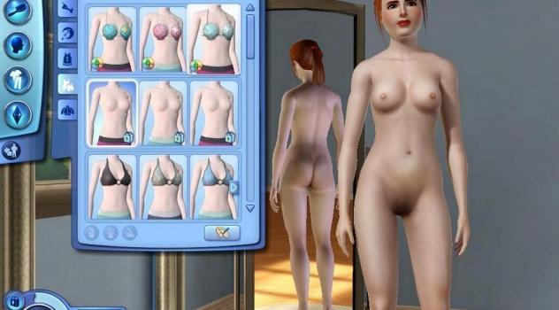 The Sims 3 female nude mod