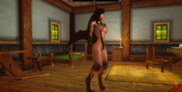Skyrim – Female Werewolf Nude Mod