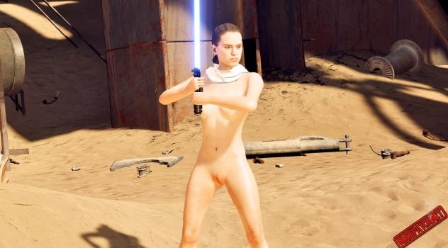 Star Wars Battlefront II – Nude Rey patch