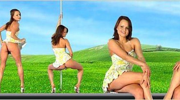 Virtual Girl Monica Sweet, desktop: Summer..