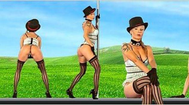Liliane Tiger Lingerie, Stockings, High Heels..