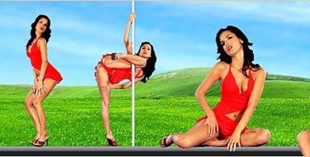 Virtual Girl Nella, desktop: Hot Salsa Stripper..