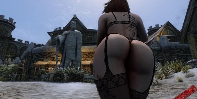 Skyrim – Danyca nude mod for loadscreens