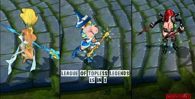 League of Topless Legends: nude skins