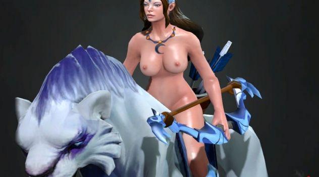 Dota 2: Mirana nude mod