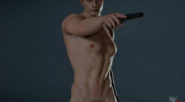 Resident Evil 2 Leon nude mod v2