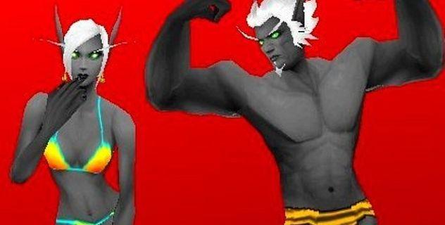 Drow Blood elves skins pack
