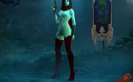 Diablo 3 nude mod Demon Hunter in Red