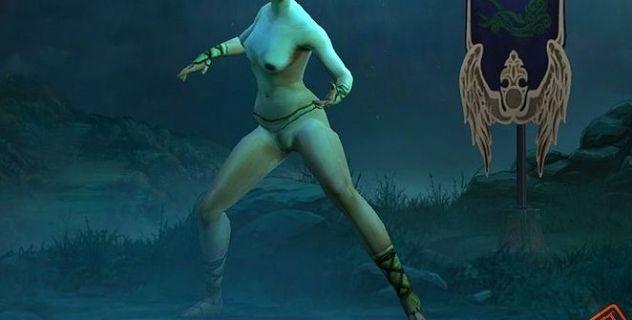 Diablo III nude mod Monk
