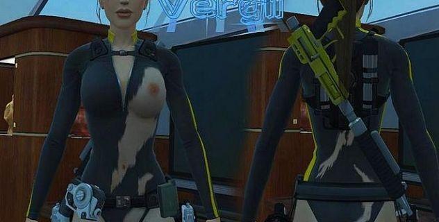 Nude Lara Croft Swordfish