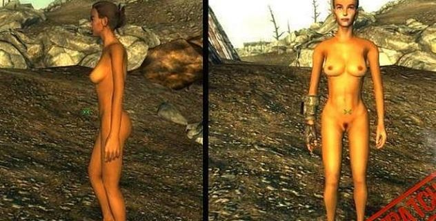 Naked girl in a char