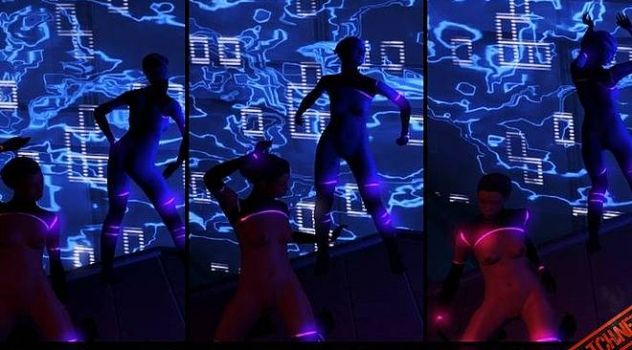 Mass Effect 3 Stripper nude mod – Black And Pink