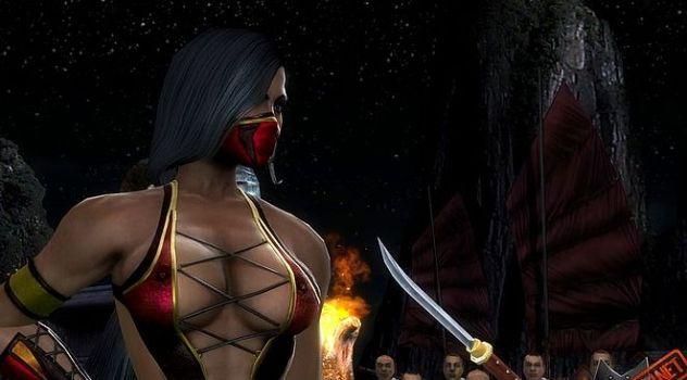 Mortal Kombat 9 nude Jade in Scarlet style