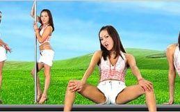Virtual Girl Mai, desktop: Shanghai by night..