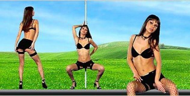 Angelina Crow Stockings,  Tiny Tits, Porn Star