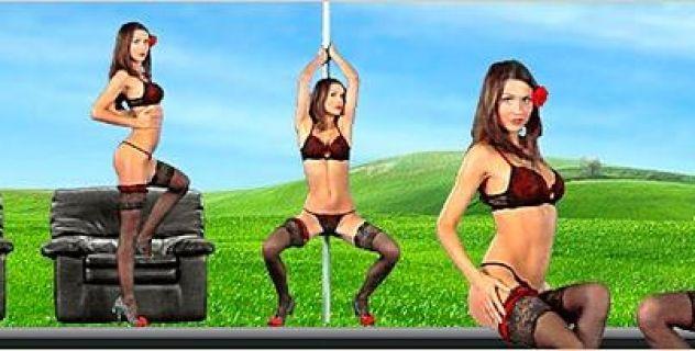 Nadine Stockings,  Desktop Nude Patch, Piercing