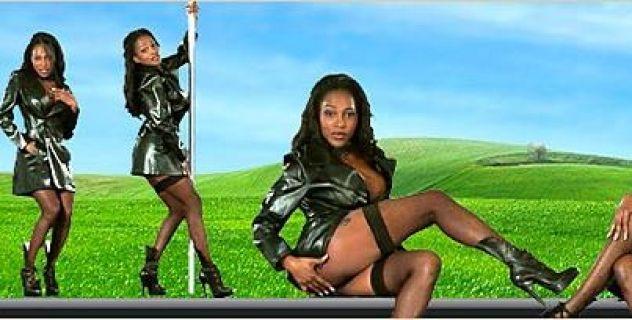 Virtual Girl Felina, desktop: Ebony black..