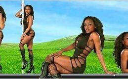 Virtual Girl Felina, desktop: Black queen..