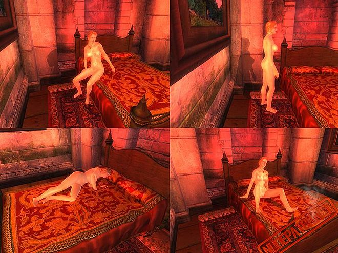 The oblivion sex mod adds a new building in the Imperial City. A brothel.