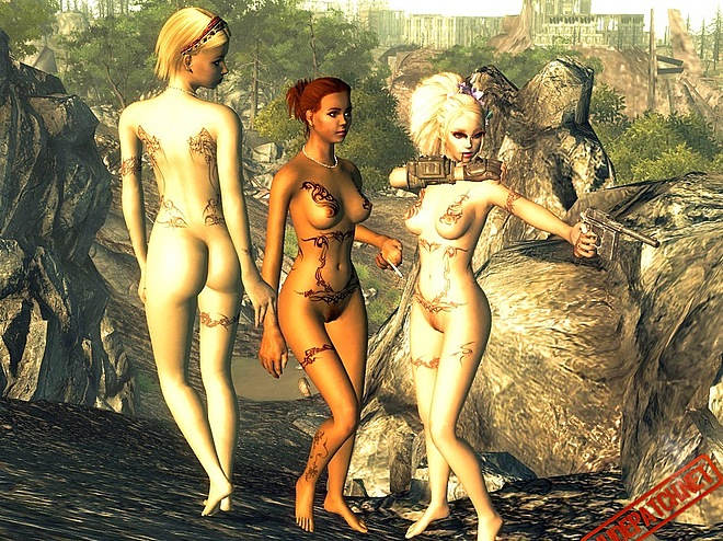 In the archives Fallout nude mods of several body versions are included.