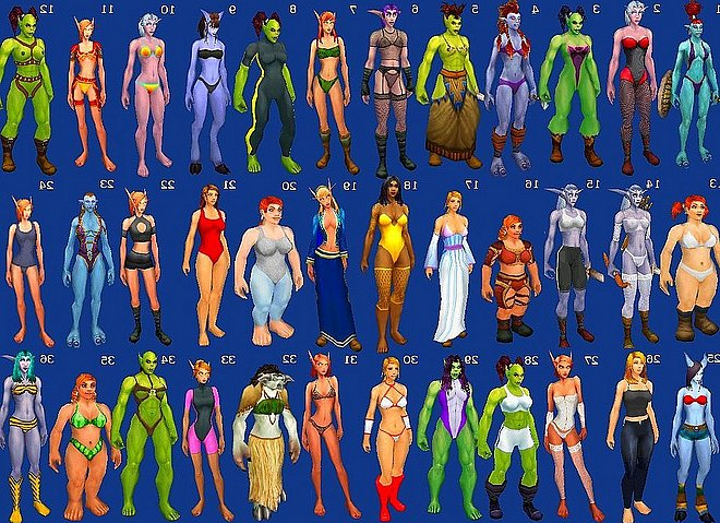 world of warcraft naked skins