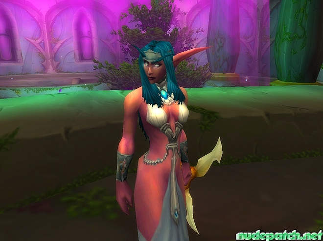 The Elf queen from World of Warcraft thanking a nude patch looks more ...