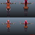 League of Legends nude Zyra nude skin