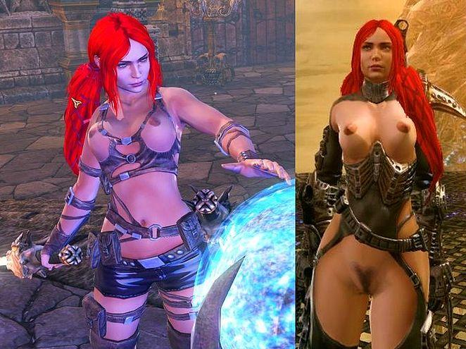 Naked heavenly sword Girl from