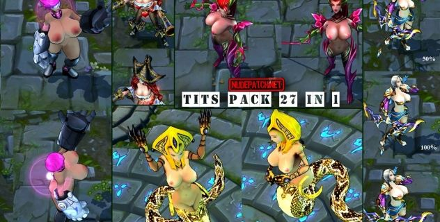 League of Big Tits: nude skins pack