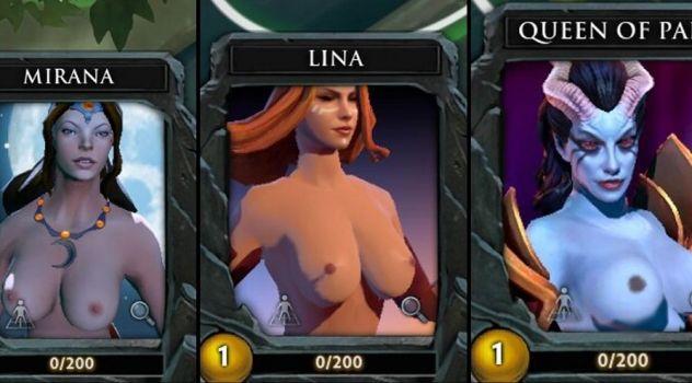 Dota 2: nude avatars