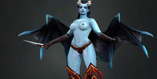 Dota 2: Queen of Pain nude mod
