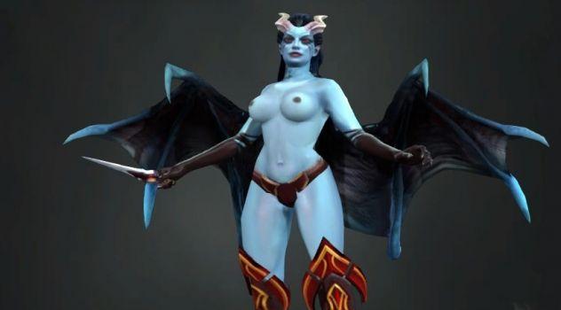 Dota 2: Queen of Pain nude mod