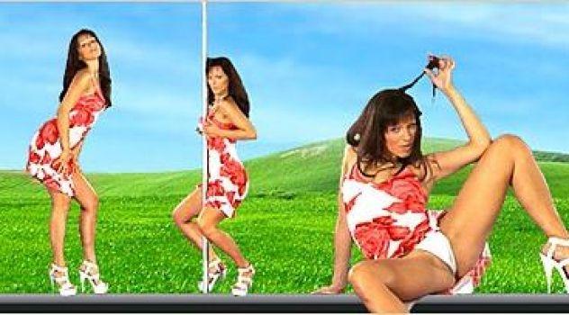 Virtual Girl Katty, desktop: Housewife Stripper..