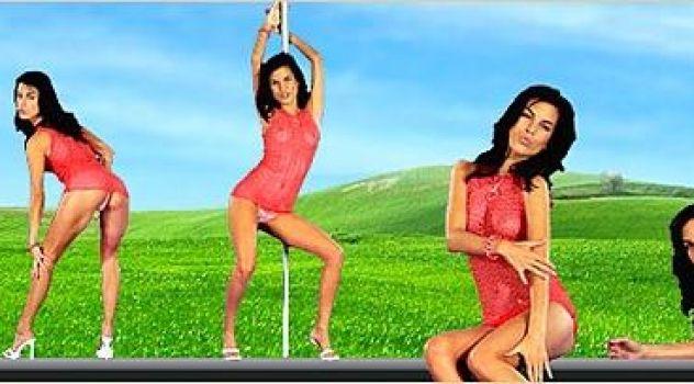 Virtual Girl Nella, desktop: Ibiza Stripper..