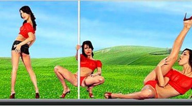 Virtual Girl Nella, desktop: Tequila Stripper..