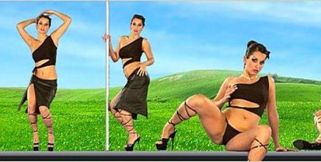 Virtual Girl Ennie, desktop: Ace of spades..