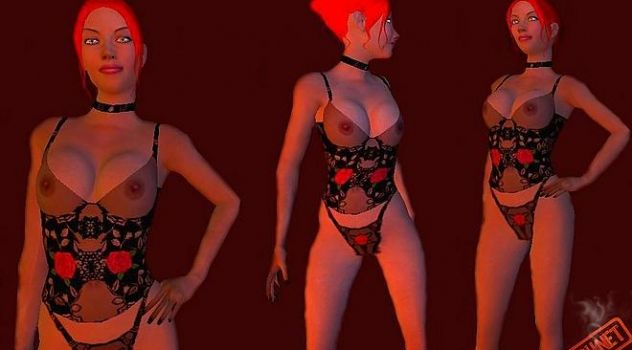 Red Hot vampire the masquerade nude mod